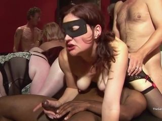 Kinky MILF hot gangbang club video