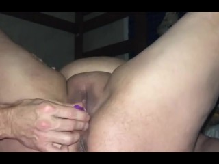 Slapping my wet hot pussy soaked with squirts