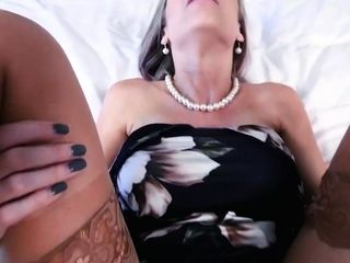 Busty tattooed stemom entertains her stepson with a blowjob