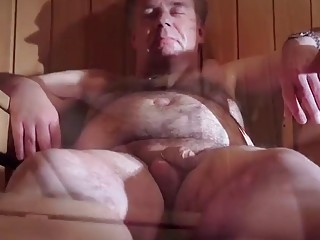 Old Man With Small Cock Fucks Girl in Sauna