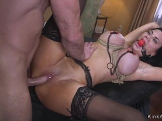 Pierced cootchie ample cans Housewife bondage & discipline made enjoy