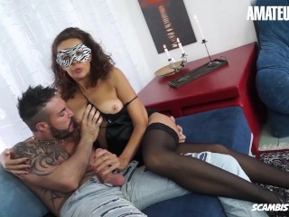 ScambistiMaturi - Fat Ass Italian Mature Hardcore Anal And Pussy Fuck With Horny Amateur