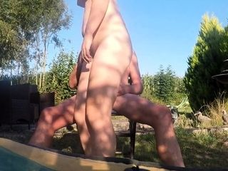 AmateurPorn Mature Nude Sex In Garden On Vacation Part1