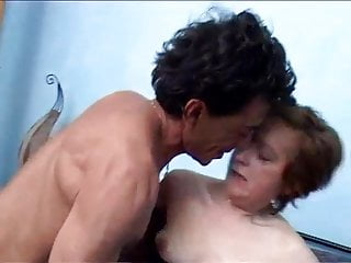 Grandmother in dark-hued and the dual jaw-dropping oral pleasure