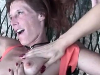 Skinny MILF pussy tormented by dominatrix in leather 3way