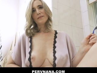 Lily Glee - Ffm Threesome With Gf And Hot Granny