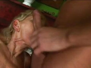 Hairy old woman sucks and gets fucked