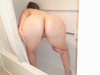 Strawberry creampie. Milf covers her self in whipcream then gets creampied