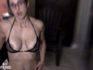 Hot Milf tells story about neighborhood boys spying. Dirty story time with iPLEDGE