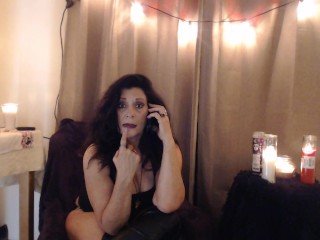 LIVE PHONESEX- princess tells closet sissy its time for real knob