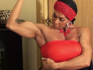 Fantasy Night at Home with LDR, FBB Muscle Goddess
