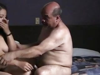 Besidedian prostitude woman fucked off out of one's mslagd oldman beside motel court.