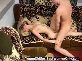 Tinny Russian Milf Small Tits Fucks Young Guy