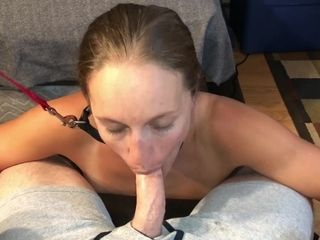 MILF shrew leashed up sucking detect apprise fro all about guys this week Houston/TX