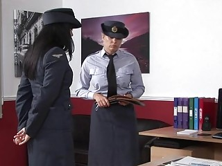 Military woman spanked by milf