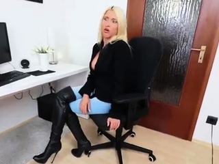 Busty blonde milf gets fed a big cock and a mouthful of jizz