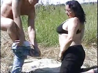 BBW Granny open-air carnal knowledge