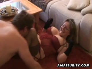 Blubbery and huge-titted amateurs wifey gargling and pummels with ejaculant