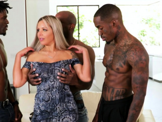 Insane milf Nina Elle Wants gang-fuck With dark-hued Mover dudes
