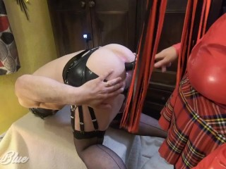 'Stocking Sissy Husband Ass Opened, Gaped and Pegged Deep by Femdom Mistress'