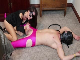 MILF Edging and Ruined Orgasm for Sissy Gimp Husband