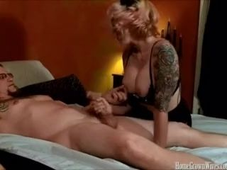 Furry inked wifey yells as she is romped in homemade movie