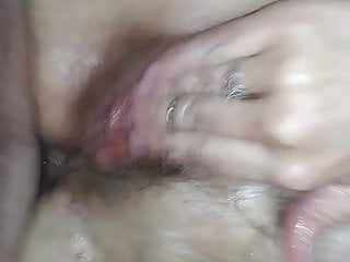 My super-steamy cougar wife's assfuck ejaculation