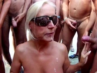 The superb wifey gang-fuck