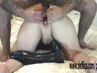 Burly dildo fucked plus fisted layman fit together