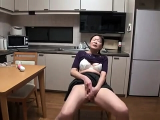 Mature first-timer wifey fucktoys fellates and humps with facial cumshot