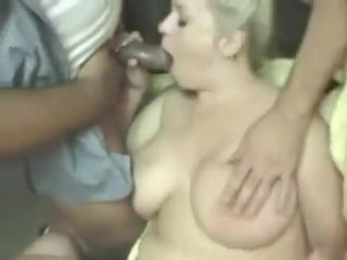 Huge-chested Nicky taunt gang-fuck
