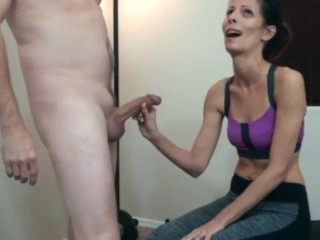 Female parent going to bed daughter elbow gym noonday (wife moronic stacie)