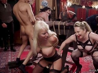 Meaty breasts Housewife marionette slurped and booty romp shagged