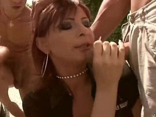 Red Haired Police Lady, Gabriella May Got Stuffed With Two Rock Hard Dicks At The Same Time