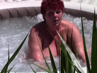 Hot Mature playing in a Jacuzzi