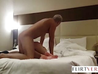 Amber Alena being fucked was almost caught by her husband