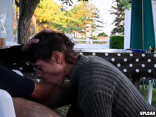 Wifey loves To deep-throat My man sausage On A Public Place