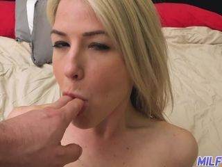 MILFTRIP Blonde MILF Kit Mercer Fucks Lucky Neighbor