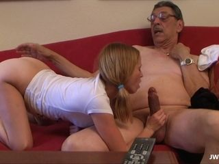 Grand stepdaughter Is fapping and inhaling elder weenie