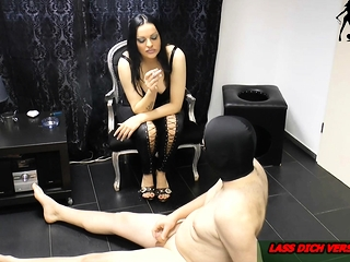 german bdsm fetish domina cigarette torture at slave
