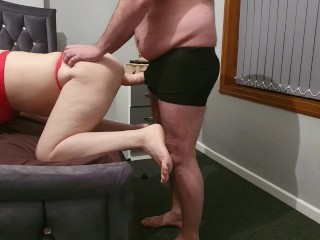 Step mom can't take big cock from step son to fuck - 10 inches of dick