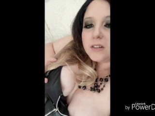 Smoking in leather and fishnets Jerk Off Instructions