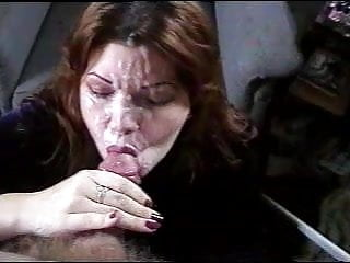 Fabulous wifey takes meaty facial cumshot money-shot