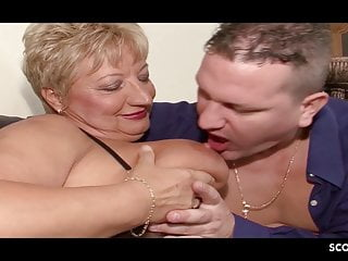 German Mature Caught Cheating by Step Son and Join Threesome