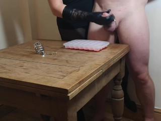 Chastity Release - First Ruined orgasm for the xmas ice cube challenge|6::Amateur,17::Fetish,20::MILF,26::Blonde,38::HD,46::Verified Amateurs