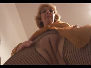 Mature Crissy with the fishnet suit