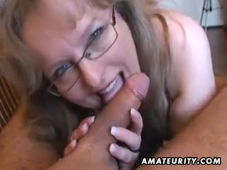 Heavy-Breasted fledgling fuck-fest wifey hand job and fellatio fuck-fest with jizz in gullet