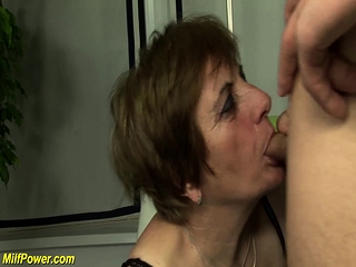 Redhead granny gets abysm fucked
