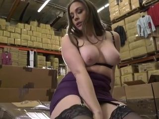 My Boss Busty Wife Alone In The Warehouse