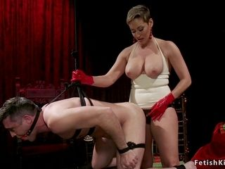 Housewife in spandex donk shag pokes tied masculine